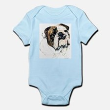 Bulldog Portrait Infant Creeper