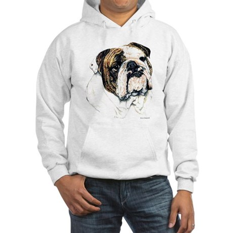 Bulldog Portrait Hooded Sweatshirt