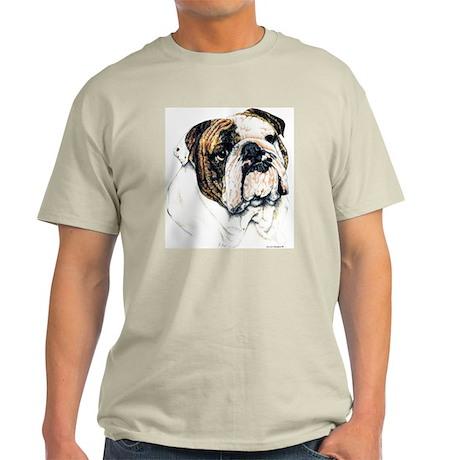 Bulldog Portrait Ash Grey T-Shirt