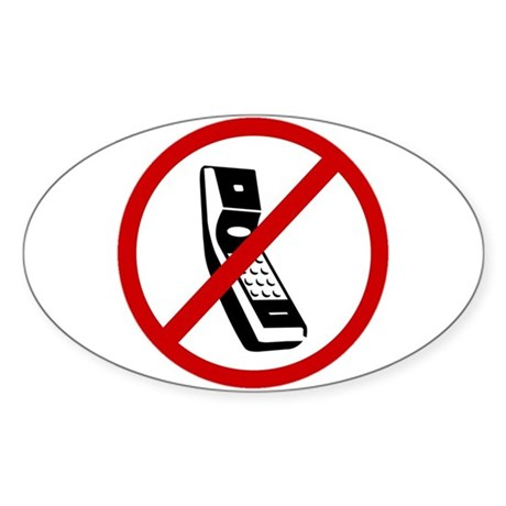 Anti Cell Phones Sticker (Oval)