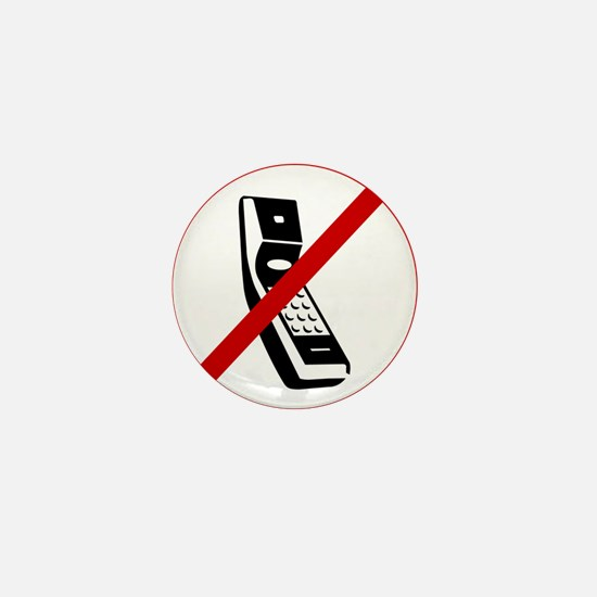 Anti Cell Phones Mini Button