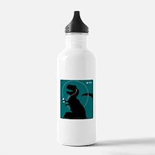 T-Rex Tunes (teal) Water Bottle