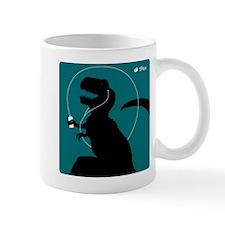 T-Rex Tunes (teal) Mug