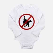 Anti Cats Long Sleeve Infant Bodysuit