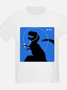 T-Rex Tunes (blue) T-Shirt