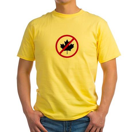 Anti Canadians Yellow T-Shirt