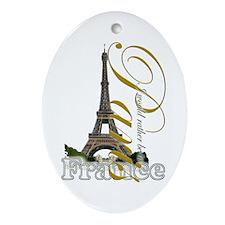 Paris, France - Ornament (Oval)