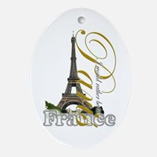 Paris, France - Ornament (Oval)