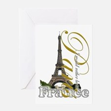 Paris, France - Greeting Card