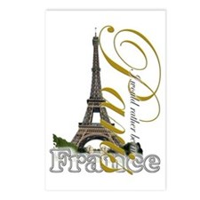Paris, France - Postcards (Package of 8)