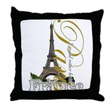 Paris, France - Throw Pillow