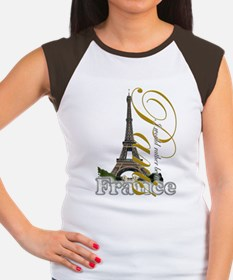 Paris, France - Women's Cap Sleeve T-Shirt