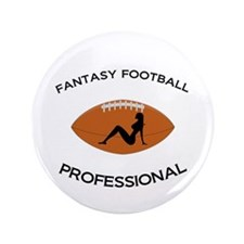 "Fantasy Football Professional 3.5"" Button (10"