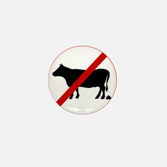 Anti Bull poop Mini Button
