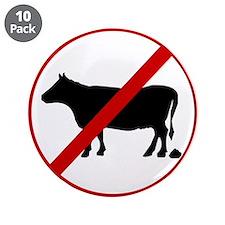 "Anti Bull poop 3.5"" Button (10 pack)"