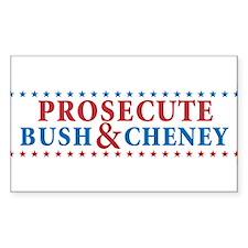 Prosecute Bush&Cheney Decal