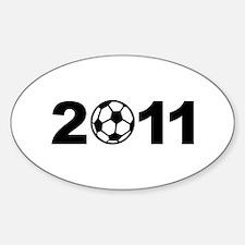Soccer 2011 Sticker (Oval)