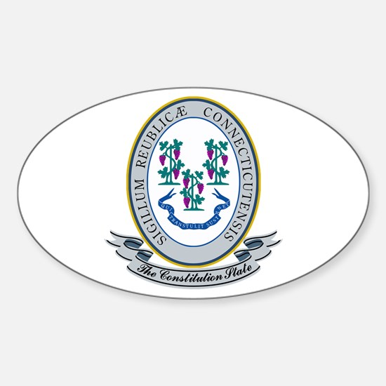 Connecticut Seal Sticker (Oval)