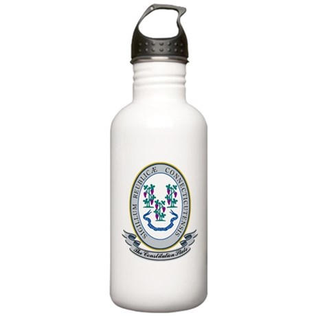Connecticut Seal Stainless Water Bottle 1.0L