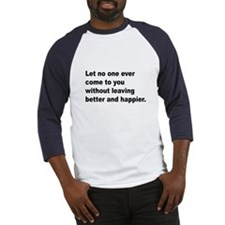 Quote (Front) Baseball Jersey
