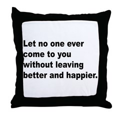 Quote Throw Pillow