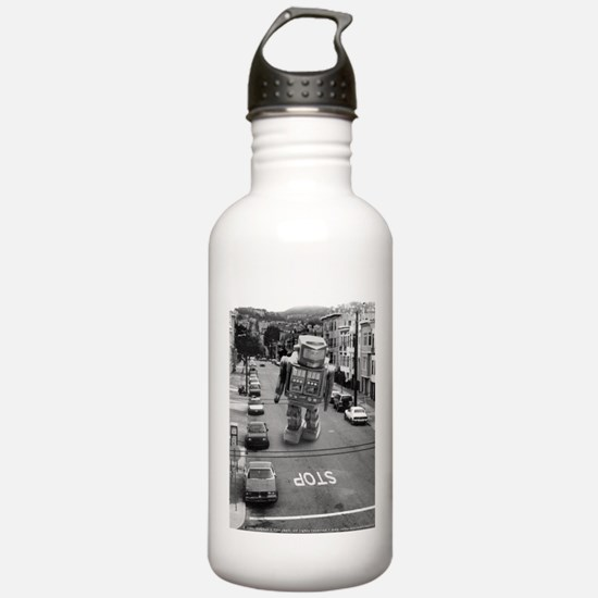 Robots in the Streets Sports Water Bottle