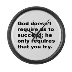 Quote Large Wall Clock