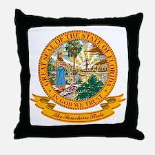 Florida Seal Throw Pillow