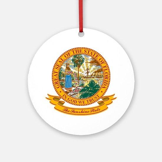 Florida Seal Ornament (Round)
