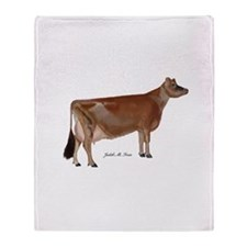 Jersey Cow Throw Blanket