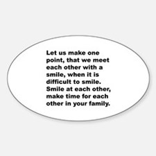 Quote Oval Decal