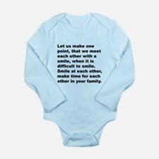 (Front) Long Sleeve Infant Bodysuit