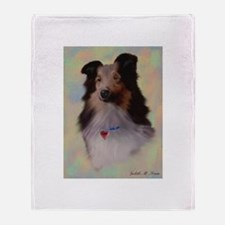 Sheltie Dog Throw Blanket