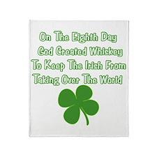 Irish Whiskey Throw Blanket