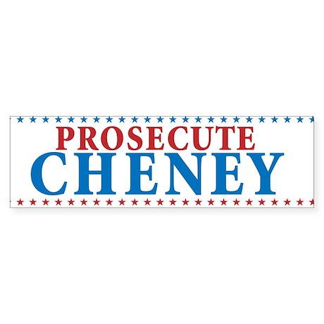 Prosecute Cheney Sticker (Bumper)