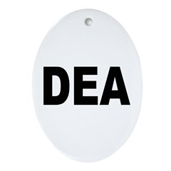 DEA Drug Enforcement Administration Ornament (Oval