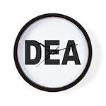 DEA Drug Enforcement Administration Wall Clock