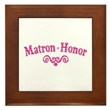 Matron of Honor Framed Tile