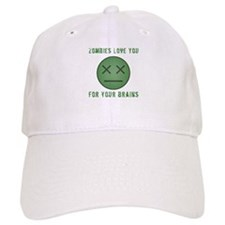 Zombie Face (Brains) Baseball Cap