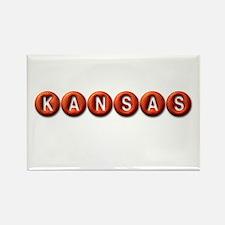 Kansas BB Rectangle Magnet