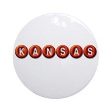 Kansas BB Ornament (Round)