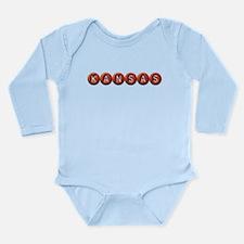 Kansas BB Long Sleeve Infant Bodysuit