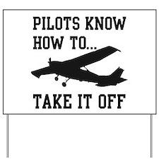 Cute Pilot Yard Sign