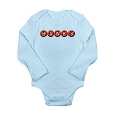Hawks BB Long Sleeve Infant Bodysuit