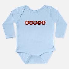 Hawks BB Long Sleeve Infant Bodysuit