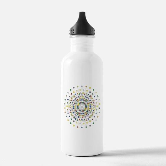 Cute Geometry Water Bottle