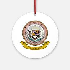Hawaii Seal Ornament (Round)