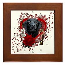 Valentines - Key to My Heart Framed Tile