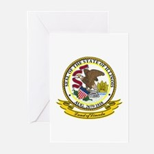 Illinois Seal Greeting Cards (Pk of 10)