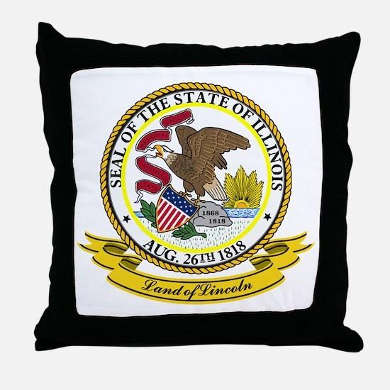 Illinois Seal Throw Pillow